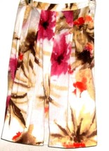 Women's White Printed Fitted Waist Skirt Size 4P - $8.00