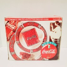 New Coca-Cola Gibson Traditions 12pc Dinnerware Set Vintage - $47.49