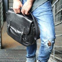 Sale, Retro Men Messenger Bag, Full Grain Leather Briefcase, Tote, Laptop Bag image 3