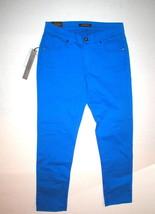 New Womens James Jeans Designer 29 Skinny Twiggy Crop Bright Blue USA NW... - $115.60