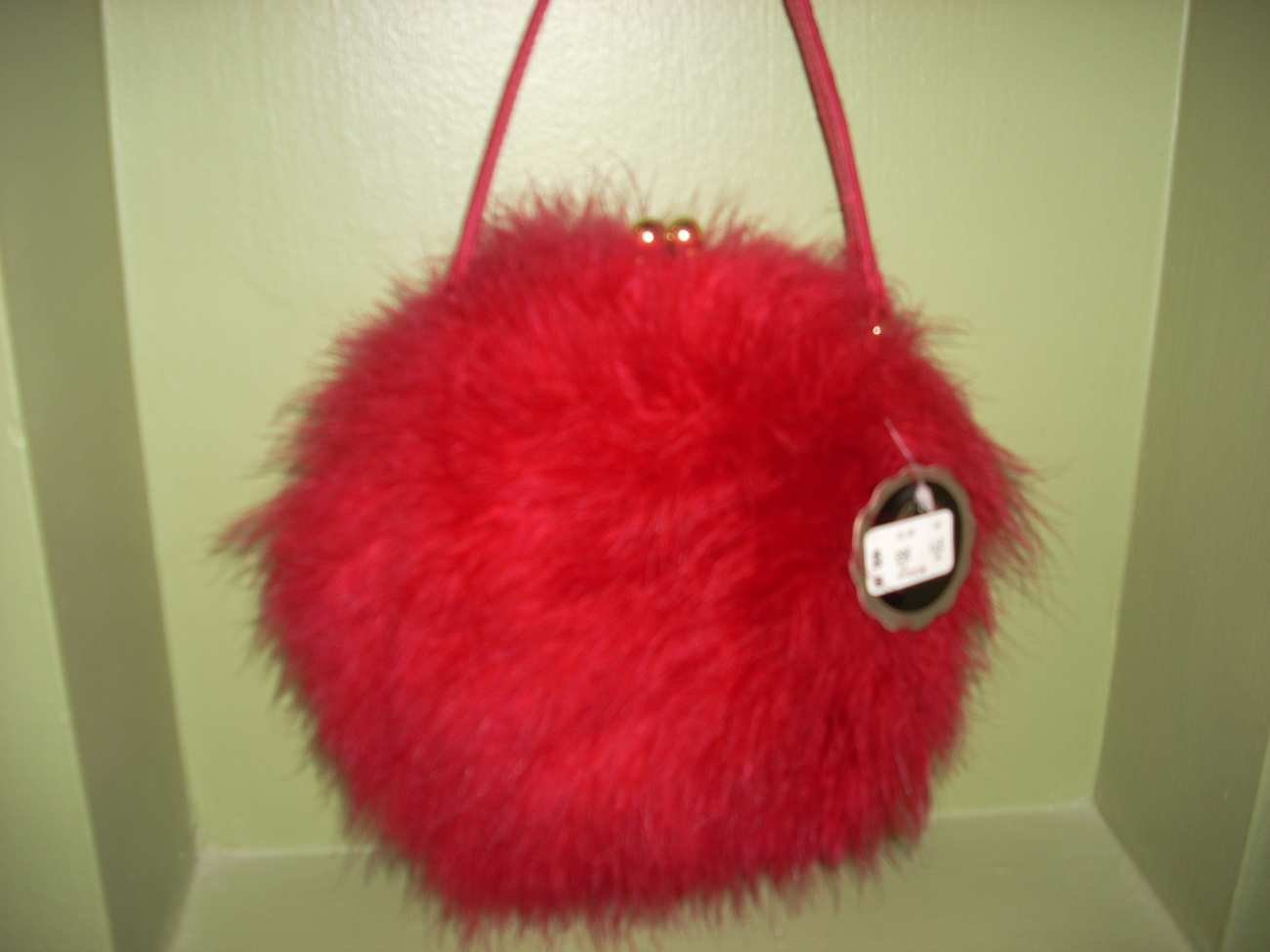 Fuzzy boa fluffy purse 001