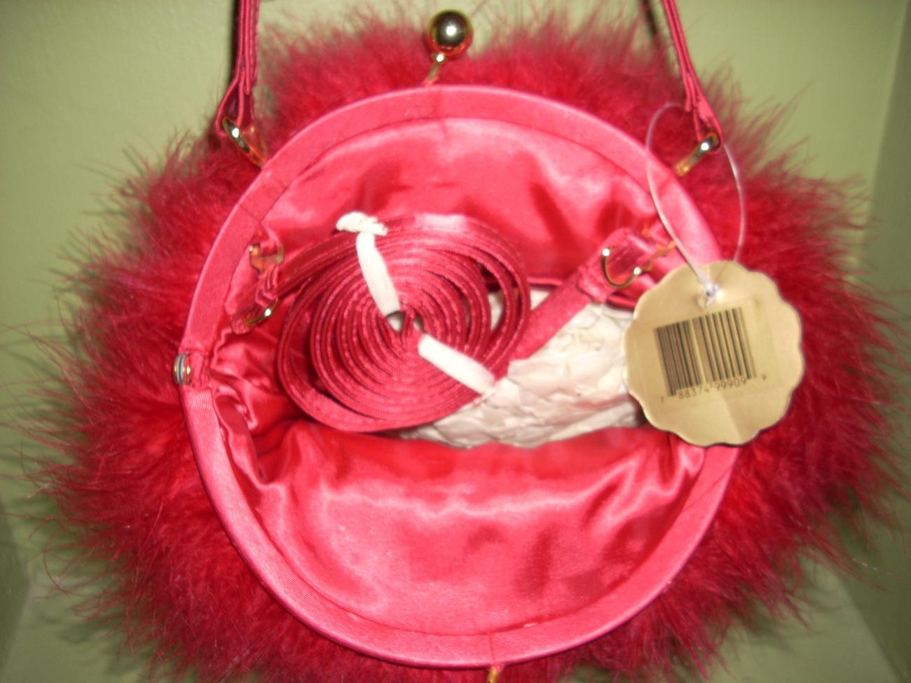 Little Girl/Tween Red Boa Fuzzy Handbag Purse Dillards NWT