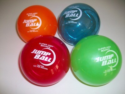 "4 Sky Jump 4"" Super Ball Comet Helium Bouncy Superball"