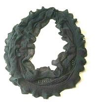 """Women's Infinity Scarf 31"""" Loop Circle Ruffles Ruffled Grey Gray - $14.29"""