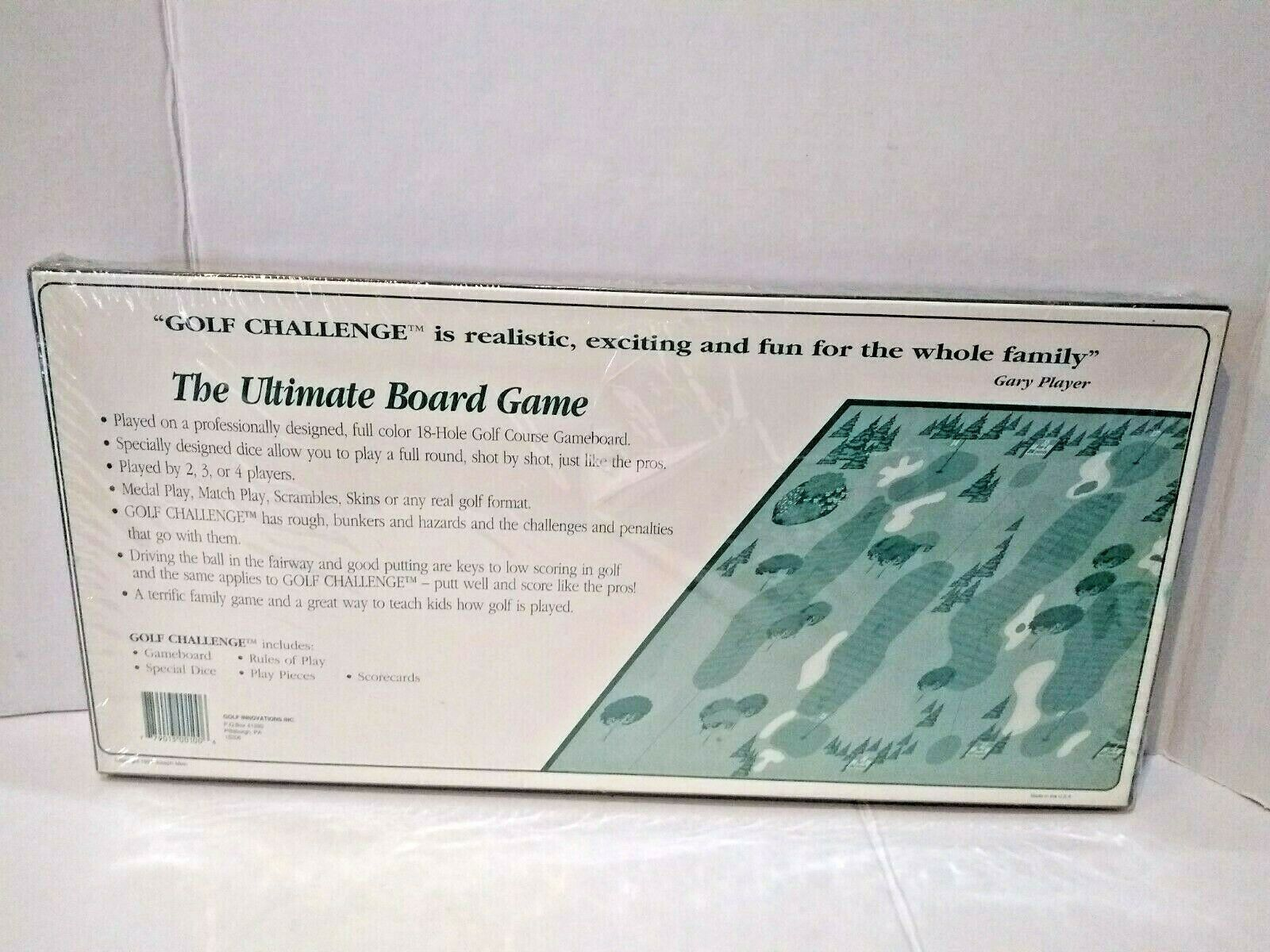 Gary Player's Golf Challenge The Ultimate Board Game Golf Course Game Board