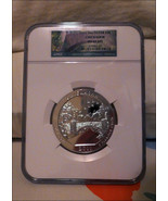 2011 Chickasaw 5 Oz America The Beautiful .999 Silver Bullion Coin NGC M... - $338.14