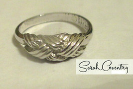 Vintage Sarah Coventry  Jewelry - #5779  Interweave Ring - $12.87