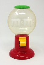 Vintage 1991 M&M's Dispenser Clear Red Candy Gumball Machine Plastic Cle... - $17.77