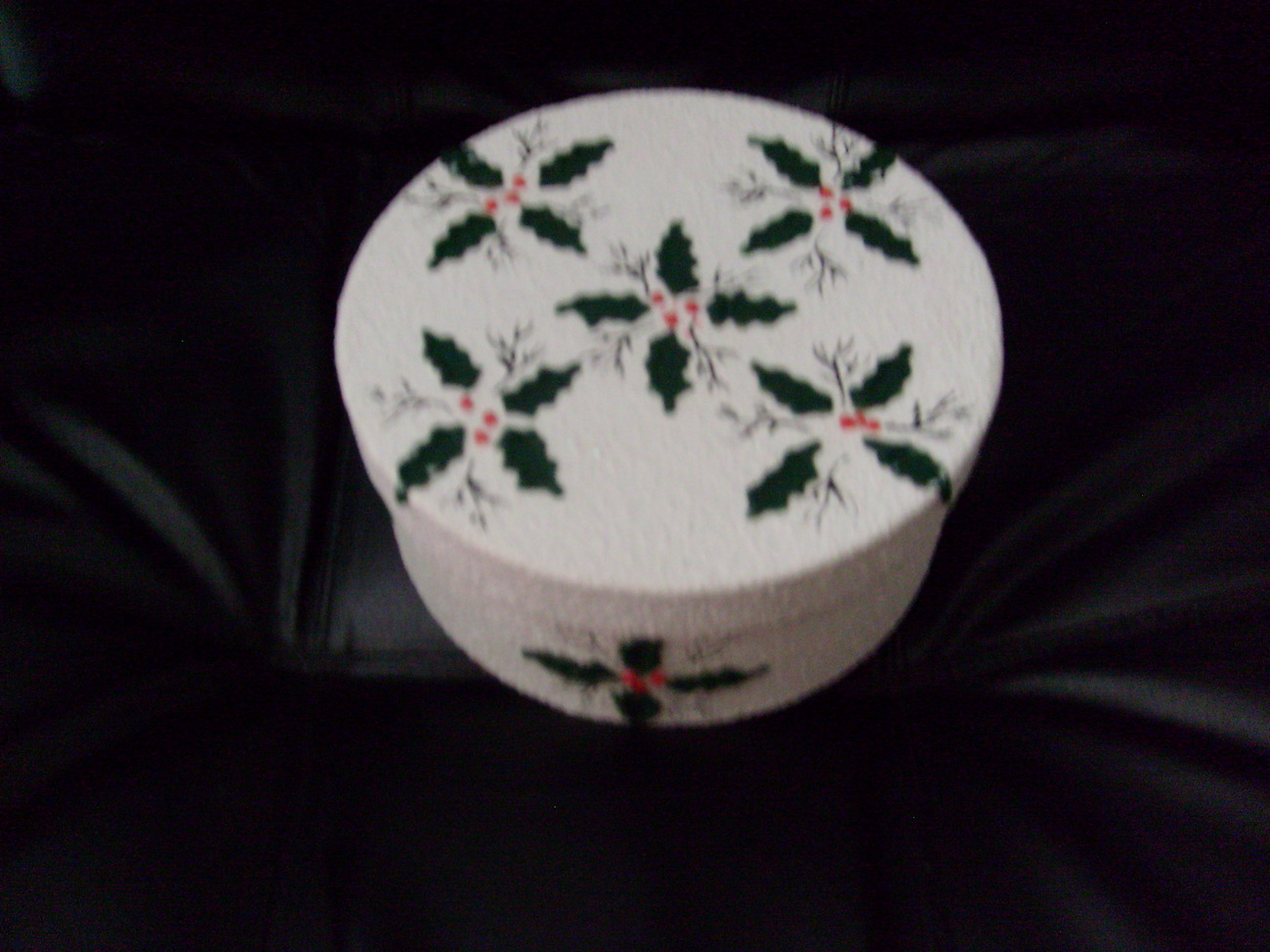 Christmas Holly Decorative Box