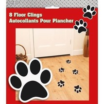 Paw Print Fire Truck Floor Cling Sheet of 8 Party - $3.79