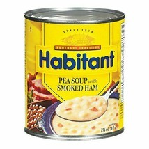 10 Cans Habitant Pea Soup With Smoked Ham 796ml / 28oz Each - From Canad... - $52.12
