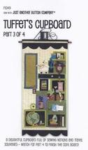 Tuffets Cupboard Part 3 P1049 Applique/Feltwork pattern with button pack JABC  - $19.80