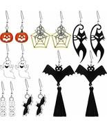 Halloween Earrings Set Dangle Tassel Jewelry Assorted Lot 6 pairs Black Cat  - $24.98
