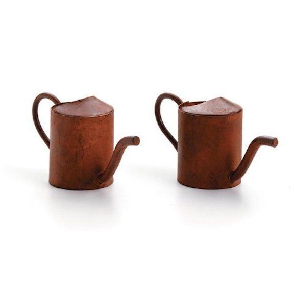 "Darice DIY Crafts 2pc Tin Watering Can Rusted 1.25"" #6552-98"