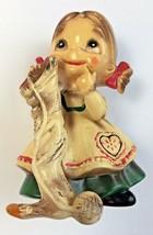 Josef Originals Wee Folks Christmas Knitting Sock Figurine Japan Tag Vin... - $27.71
