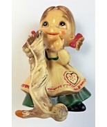 Josef Originals Wee Folks Christmas Knitting Sock Figurine Japan Tag Vin... - £14.68 GBP