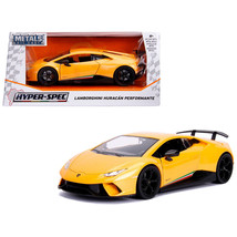 Lamborghini Huracan Perfomante Metallic Yellow 1/24 Diecast Model Car by Jada 99 - $35.93
