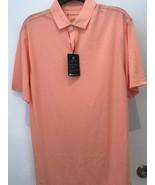 Oxford Dri Release Papaya punch Golf Polo NWT  - $19.95