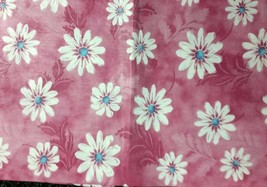 "Thin Tablecloth Vinyl Flannel Back, 52""X70"" Oblong (4-6 ppl) FLOWERS ON ... - $8.90"