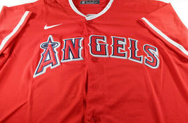 MIKE TROUT / AUTOGRAPHED LOS ANGELES ANGELS RED PRO STYLE BASEBALL JERSEY / COA image 2