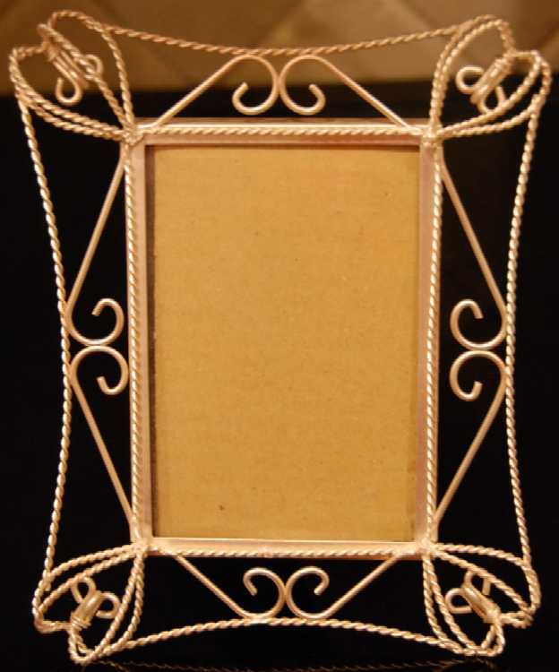 Matte Silver tone Loopy Picture Frame