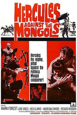 Primary image for Hercules Against The Mongols - 1963 - Movie Poster