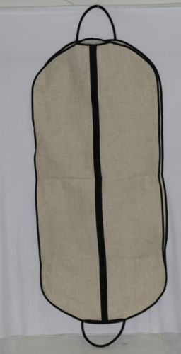 Mainstreet Collection LGBB0681 Linen Garment Bag Black Accents