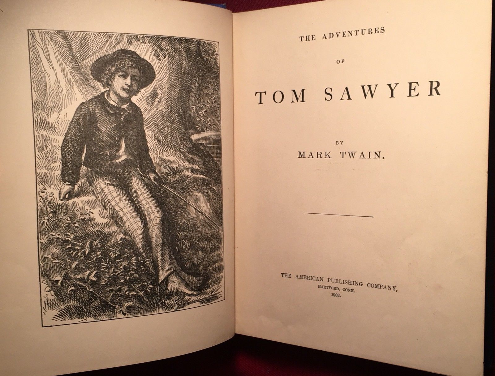 Mark Twain THE ADVENTURES OF TOM SAWYER Early Reprint