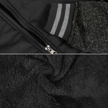 Vertical Sport Men's Sherpa Fleece Lined Two Tone Zip Up Hoodie Jacket image 9