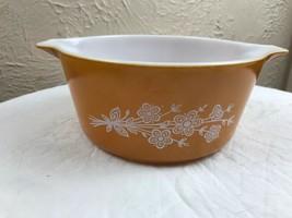 Vintage Pyrex Butterfly Gold Casserole Dish #474-B 1.5 Qt - $9.46