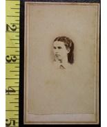 CDV Carte De Viste Photo Pretty Teen Girl Vignette! c.1859-8 - $3.20