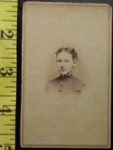 CDV Carte De Viste Photo Pretty Teen Girl c.1859-80 - $3.20