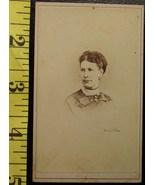 CDV Carte De Viste Photo Pretty Lady Big Bow! c.1859-8 - $3.20