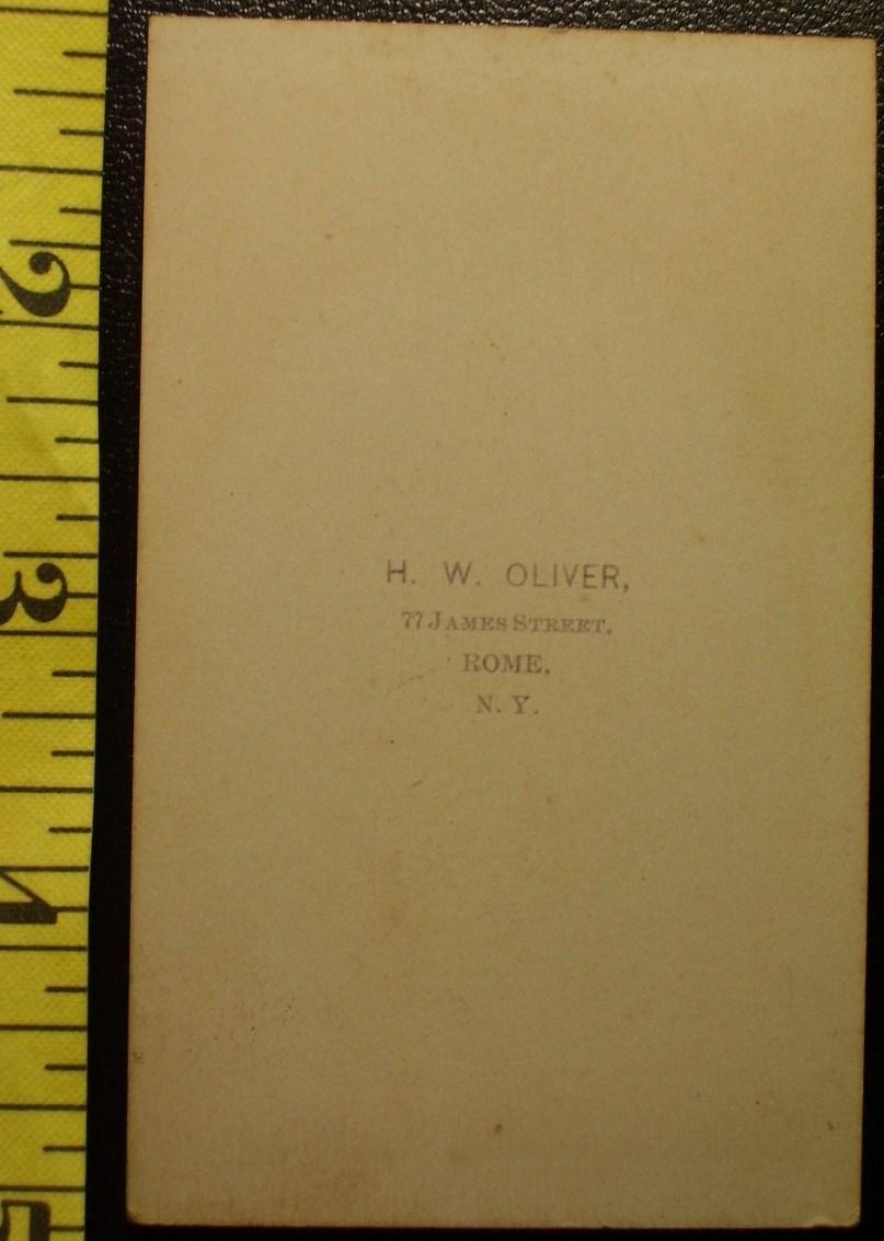 CDV Carte De Viste Photo Pretty Lady Big Bow! c.1859-8