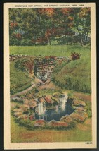 Arkansas Hot Springs National Park Miniature Springs AR 1945 Linen Postcard - $4.99