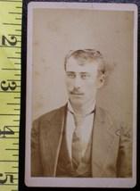 CDV Carte De Viste Photo Young Man Long Tie! c.1859-80    - $3.20