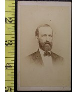 CDV Carte De Viste Photo Full Bearded Rich Man! c.1859-80    - $3.20