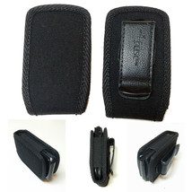 Open Top Black Nylon Case fits Alcatel Go Flip phone - $14.84