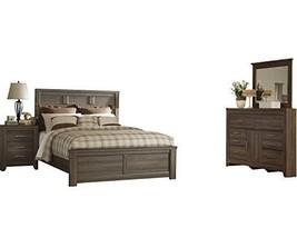 Ashley Juararo 4PC Cal King Panel Bedroom Set - Brown - $1,820.19