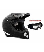 Adult Motorcycle Helmet Off Road MX ATV Dirt Bike Motocross UTV - Shiny ... - $68.55