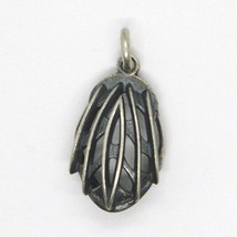 Silver 925 Pendant, Burnished and Satin, Bob Cycling Jersey, Helmet image 2