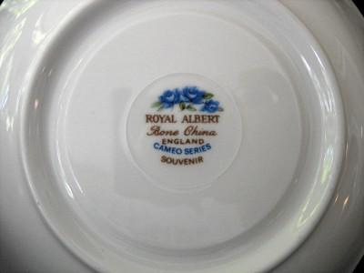 ROYAL ALBERT Cup & Saucer - Cameo Series - Souvenir