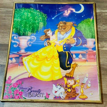 Beauty Beast Picture framed poster litho print luminere chip teapot Disn... - $72.39