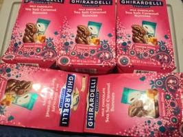 4 Limited Edition Ghirardelli Milk Chocolate Sea Salt Caramel Bunnies FREE SHIP - $19.01