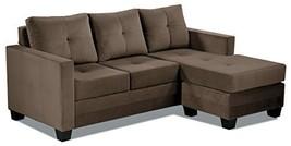 "Homelegance Phelps 78"" X 58"" Microfiber Reversible Chaise Sofa, Brown - $1,282.19"