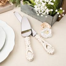 Vintage Antique Design Wedding Cake Serving Set Knife Server Gift ENGRAVING - $18.49