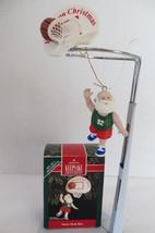 Christmas Hallmark Keepsake 1992 Santa's Hook Shoot Ornament - $8.59