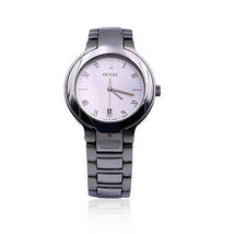 Authentic Gucci Stainless Steel Mod 8900 M Unisex Wrist Watch White Dial - $386.10