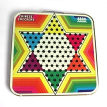 Vintage Chinese Checkers Metal Folding Double Board Game Wall Decor Pres... - $12.86