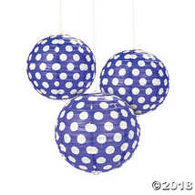 Fun Express 13676877 Purple Polka Dot Paper Lanterns - £3.60 GBP